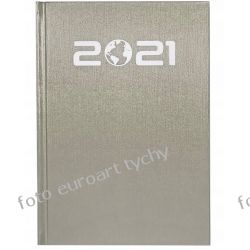 2021 terminarz A5 tygodniowy kalendarz srebrny Gadżety i akcesoria