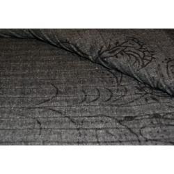 Przytulny tweed plisowana tkanina ze wzorem.