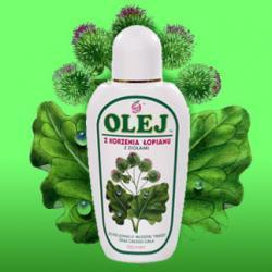 Olej z korzenia łopianu wzmocniony ziołami