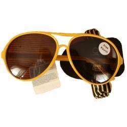 Okulary przeciwsłoneczne a'la aviatory ŻÓŁTE