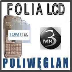 Folia wyświetlacz LCD 3MK Poliwęglan   Nokia E72