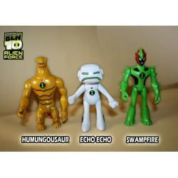 BEN 10 Echo Echo Humungousaur Swampfire 3 figurki