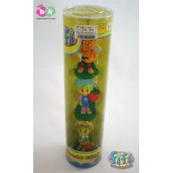 3 figurki w tubie z bohaterami bajki FIFI firmy EPEE