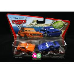 "Grem & Damageg Rod ""Torque"" Redline z bajki CARS 2 produkcji DISNEY PIXAR MATTEL V2836"