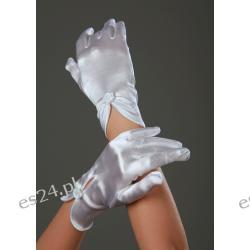 R 53 -Rękawiczki  komunijne , z  lycry  atłasowej  mat, błysk,