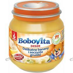 BoboVita deser delikatne banany i soczyste gruszki po 6. miesiącu 125g