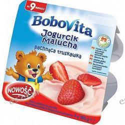 BoboVita Jogurcik malucha 4x100g pachnąca truskawka po 9. miesiącu 400g