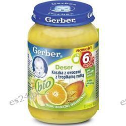 Gerber BIO Deser Kaszka z owocami z tropikalną nutką po 6. miesiącu 190g