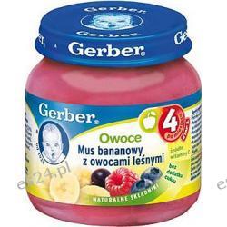 Gerber owoce mus bananowy z owocami leśnymi po 6. miesiącu 130g