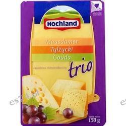 Hochland ser żółty w plastrach trio - Maasdamer, Tylżycki, Gouda 150g