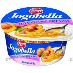 Jogobella owocowa wyspa łagodny deser jogurtowy z brzoskwinią 150g