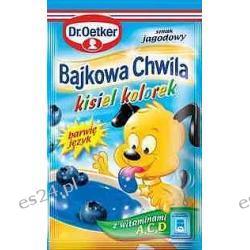 Dr. Oetker Bajkowa Chwila kisiel kolorek o smaku jagodowym 31g