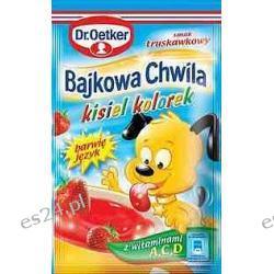 Dr. Oetker Bajkowa Chwila kisiel kolorek o smaku truskawkowym 31g