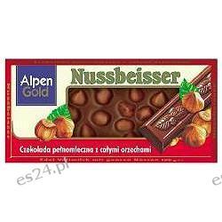 Alpen Gold Nussbeisser czekolada mleczna z całymi orzechami 100g