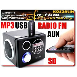 Głośnik zewnętrzny mp3 SD USB do komputera PC DVD