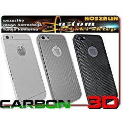 iPhone 5 Folia LCD PRZÓD KRYSZTAŁ +3D CARBON TYŁ