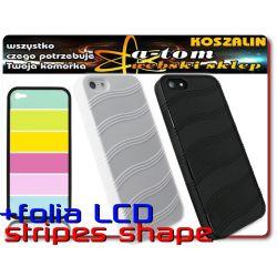 iPhone 5 etui futerał NAKŁADKA RUBBER+folia na LCD