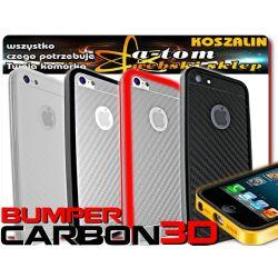 iPhone 5 etui futerał BUMPER+FOLIA LCD+CRBN na TYŁ