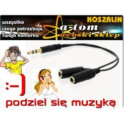 adapter 4world audio mini jack 3,5 na 2x mini jack