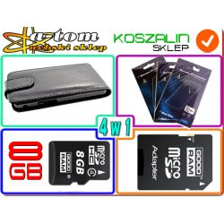 KARTA 8GB+ETUI+FOLIA do HUAWEI ASCEND P6