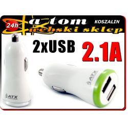 Ładowarka Samochodowa 2 USB 2A do tabletów AINOL