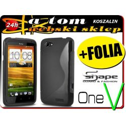 Etui futerał obudowa S-Shape HTC One V +FOLIA