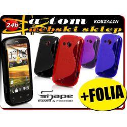 Etui futerał obudowa S-Shape HTC Desire C +FOLIA