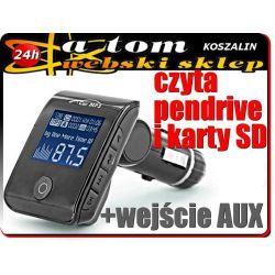 TRANSMITER FM +SD +USB+adapter audio do iPhone