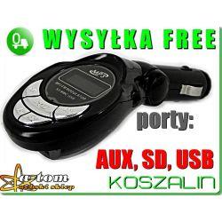 TRANSMITER FM CZYTA KARTY SD I PENDRIVE Z USB