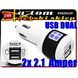 Ładowarka Samochodowa 2 USB do tabletów OVERMAX