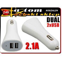 Ładowarka na 2 USB do HUAWEI ASCEND G300 Y300 W1