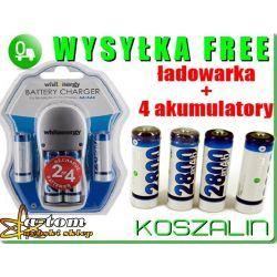 ładowarka do akumulatorków AA  AAA +4x akumulator
