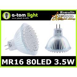Żarówka MR16 80 led 3.5W halogen 12V ciepła biała