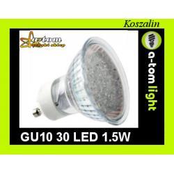 Żarówka GU10 30 led 1,5W halogen energooszczędna
