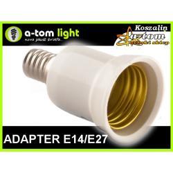 Adapter Redukcja E14/E27 do żarówka led oprawa