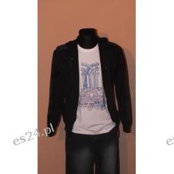 Czarna bluza z kapturem firmy Fenchurch rozpinana na zamek i zatczepy