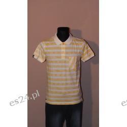 Żółto/Biała koszulka polo firmy Fenchurch