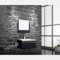 Zestaw Mebli Łazienkowych Amrum Kolor Czarny Panele i zestawy prysznicowe