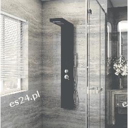Panel prysznicowy Homedeluxe Cascata Czarny Pozostałe