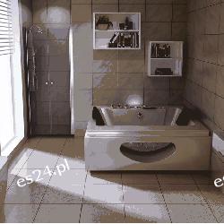 Drzwi prysznicowe Lavea 125x195 szkło przezroczyste Hydraulika i armatura