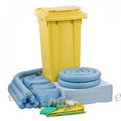 Zestaw mobilny WHEELY 120, sorbenty do oleju - absorbcja 112 litrów