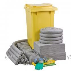 Zestaw mobilny WHEELY 240, sorbenty uniwersalne - absorbcja 231 litrów