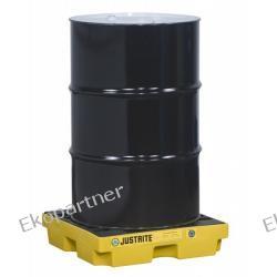Paleta (wanna) wychwytowa, polietylenowa LOW, Eco 45%, platforma robocza, 1 beczka, 45 litrów, żółta