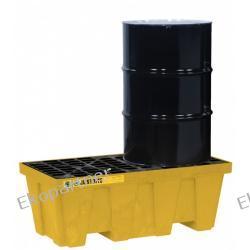 Paleta (wanna) wychwytowa, polietylenowa MEDIUM, Eco 35%, 250 l, 2 beczki, żółta Pozostałe