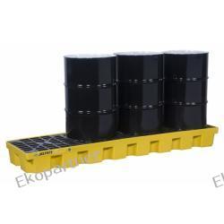 Paleta (wanna) wychwytowa, polietylenowa MEDIUM, Eco 35%, 284 l, 4 beczki/spust/linia, żółta Pozostałe
