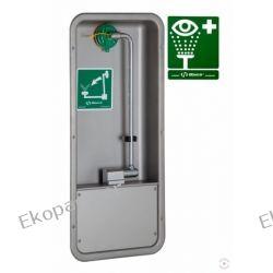 Oczomyjka, myjka do oczu i twarzy (LABO) montowana w szafce we wnęce ściennej, wylewka Axion MSR, otwarta, n/spraw Przemysł