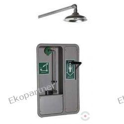 Oczomyjka, urządzenie łączone - myjka do oczu i twarzy montowana w szafce we wnęce ściennej, otwarta, natrysk awaryjny, zasilanie poziome, wylewka SN, n/spraw Przemysł