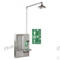 Oczomyjka, urządzenie łączone (LABO) - myjka do oczu i twarzy, montowana w szafce na ściennie, zamknięta, natrysk awaryjny, wylewka SN, n/spraw Przemysł