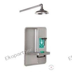 Oczomyjka, urządzenie łączone - myjka do oczu i twarzy, montowana w szafce we wnęce ściennej, zamknięta, natrysk awaryjny, wylewka SN, n/spraw Przemysł