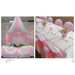 Ozdoby na stół i krzesła weselne